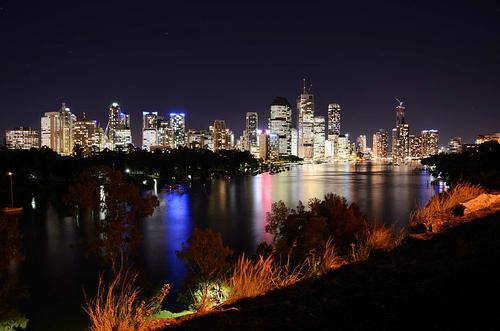 Brisbane in de Nacht
