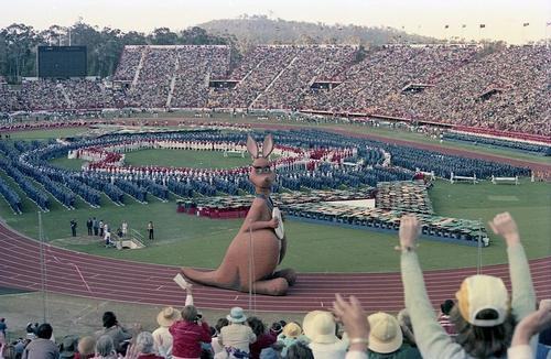 Brisbane opening Coomonwealth games in 1982