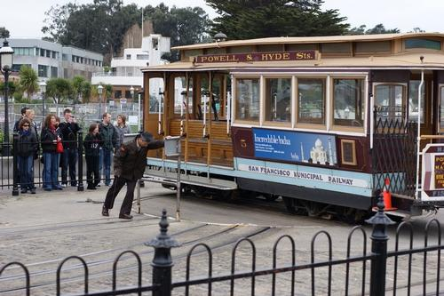 San Franciso Tram Startpunt Foto:Cliff Mosdall
