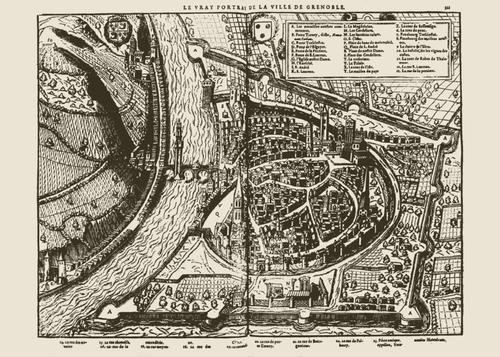 Grenoble rond 1575 Foto:Publiek Domein