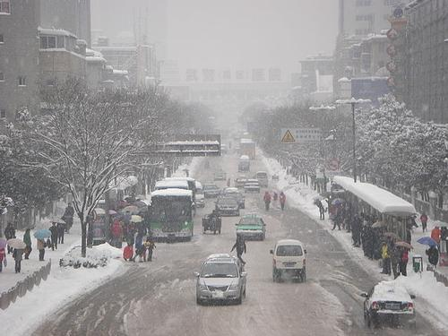 Hefei (Oost-China) in de winter foto: Zhang Yueyang
