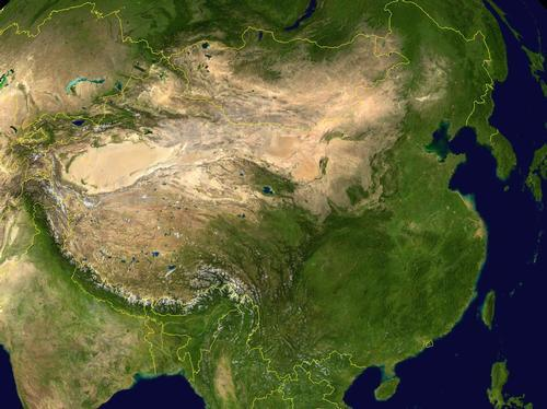 China Satellietfoto foto: NASA