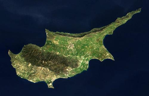 Cyprus Satellietfoto foto: NASA