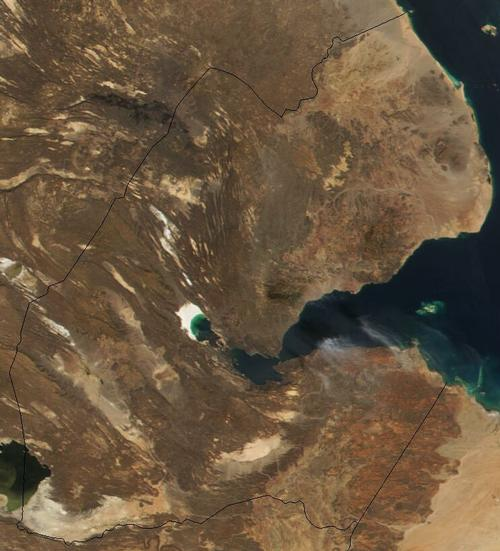 Djibouti Satellietfoto foto: NASA