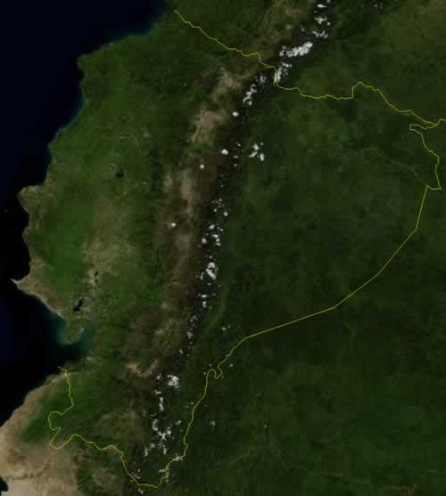 Ecuador Satellietfoto foto: NASA