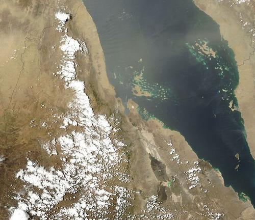 Eritrea Satellietfoto foto: NASA