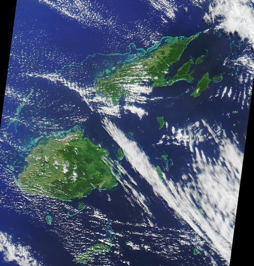 Fiji Satellietfoto foto: NASA