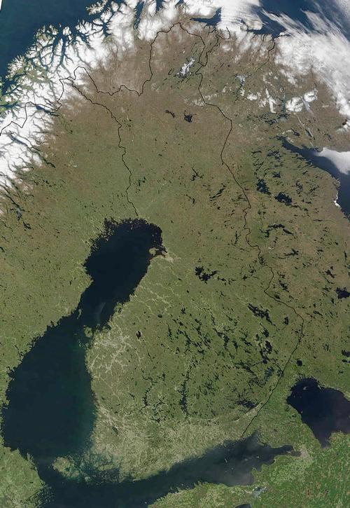 Finland Satellietfoto NASA