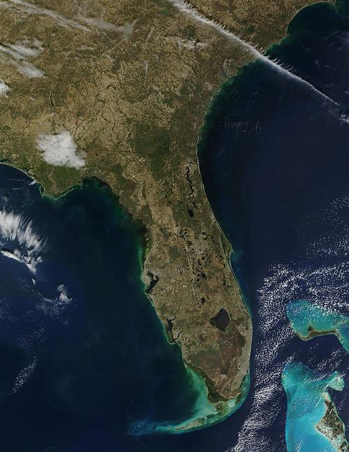 Florida Satellietfoto foto: NASA