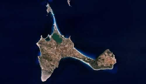 Formentera Satellietfoto foto: NASA