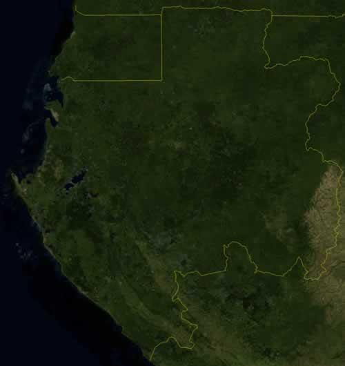 Gabon Satellietfoto foto: NASA