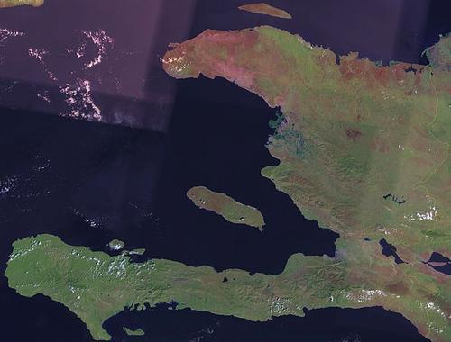 Haiti Satellietfoto foto: NASA