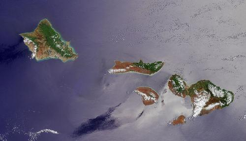 Hawaii Satellietfoto foto: NASA