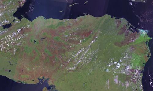Honduras Satellietfoto foto: NASA