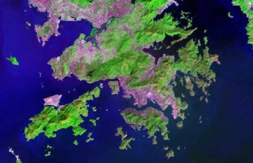 Hongkong Satellietfoto foto: NASA