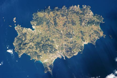 Ibiza Satellietfoto foto NASA