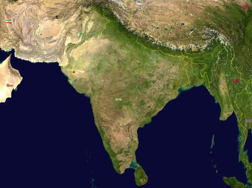 India Satellietfoto foto: NASA