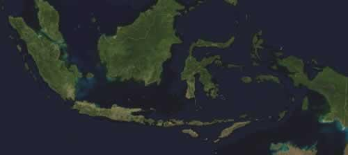 Indonesië Satellietfoto foto: NASA