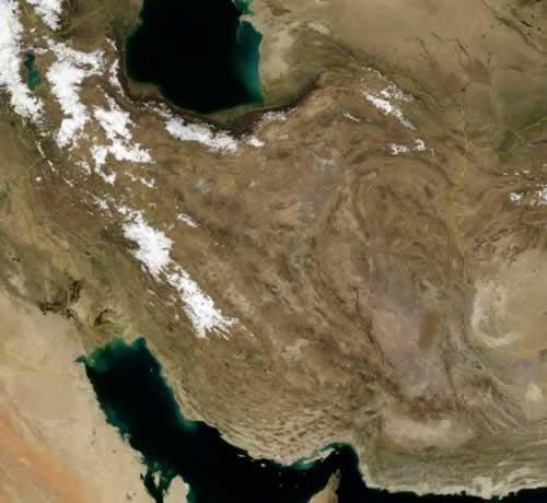 Iran Satellietfoto foto: NASA