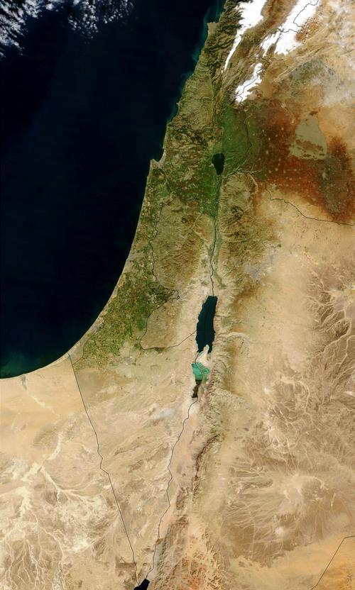 Israel Satellietfoto foto: NASA