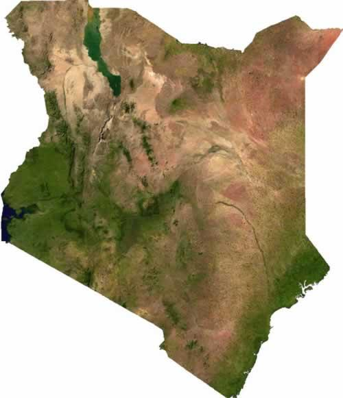 Kenia Satellietfoto foto: NASA