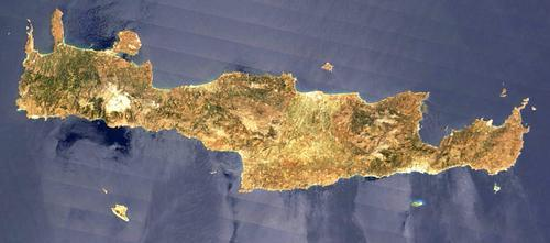 Kreta Satellietfoto foto: NASA