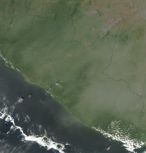 Liberia Satellietfoto foto: NASA