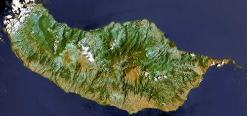 Madeira Satellietfoto foto: NASA