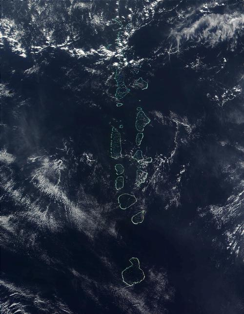 Maldiven Satellietfoto foto: NASA
