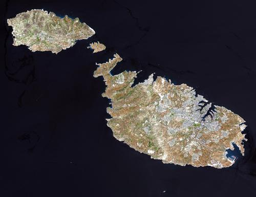 Satellietfoto Malta foto: NASA
