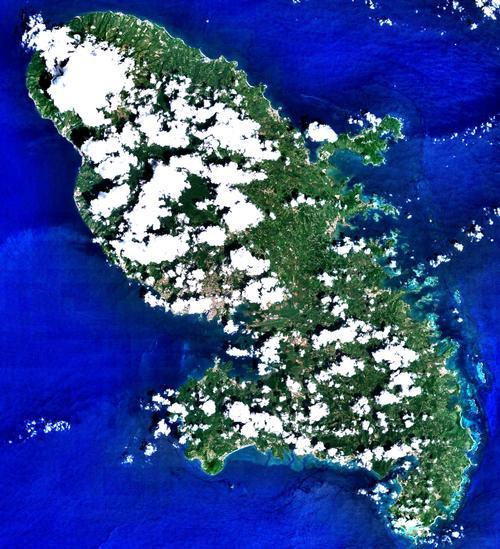 Martinique Satellietfoto foto: NASA