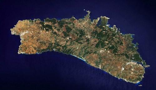 Menorca Satellietfoto foto: NASA
