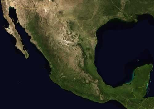 Mexico Satellietfoto foto: NASA