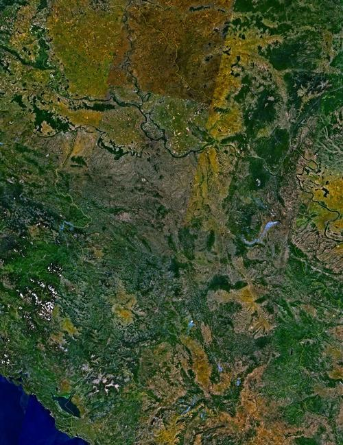 Montenegro Satellietfoto foto: NASA
