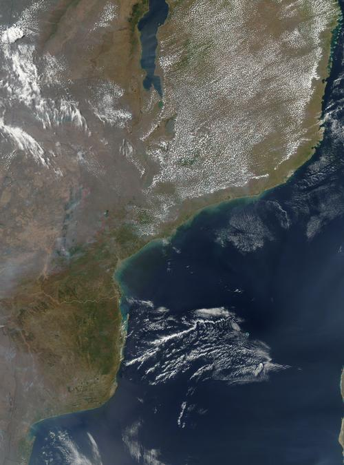 Mozambique Satellietfoto foto: NASA