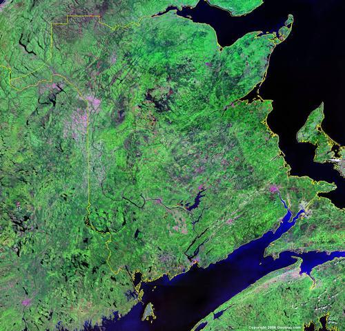 New Brunswick Satellietfoto foto: NASA