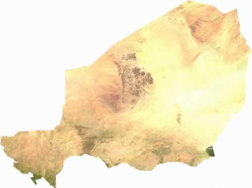 Niger Satellietfoto foto: NASA