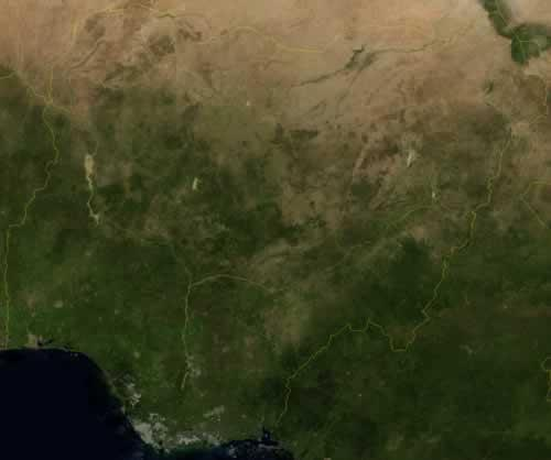 Nigeria Satellietfoto foto: NASA
