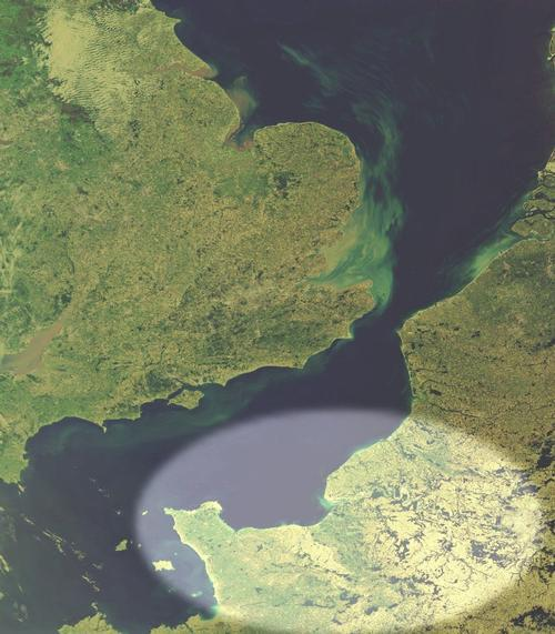 Normandie Satellietfoto foto: NASA