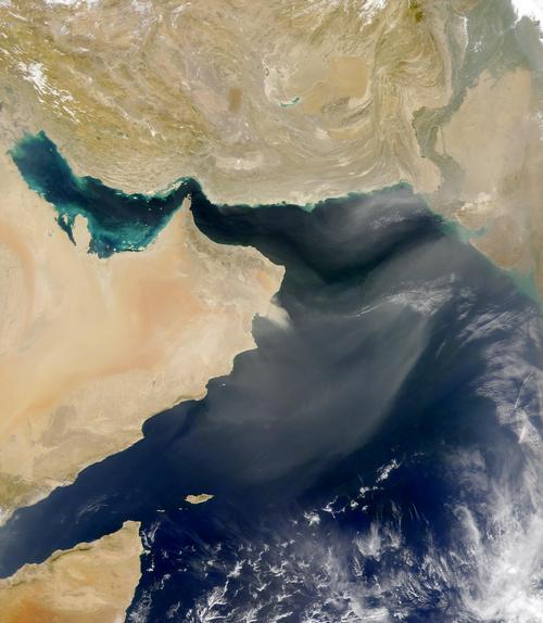 Oman Satellietfoto foto: NASA