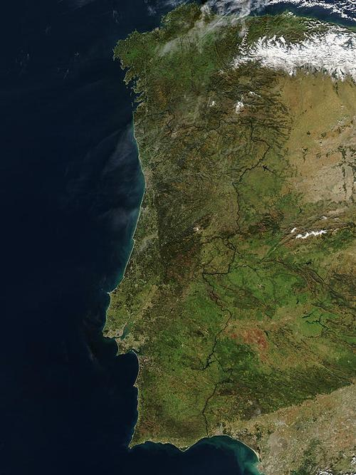 Satellietfoto Portugal