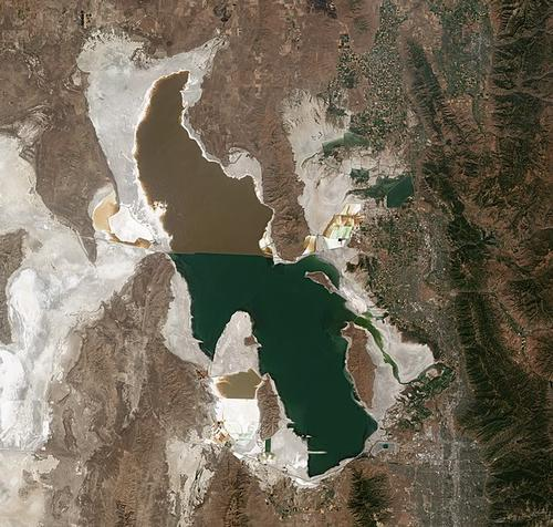 Satellietfoto Great Salt Lake