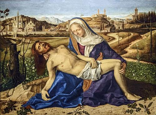 Pieta van Bellini in Galleria dell Accademia in Venetie