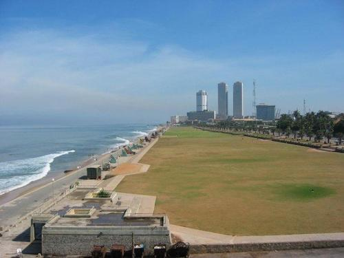 Galle Face Green, boulevard van Colombo