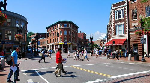 Harvard Square in Cambridge Foto:chensiyuan