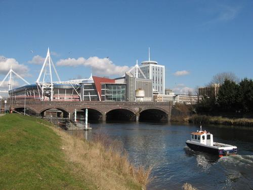 river Taff by Cardiff